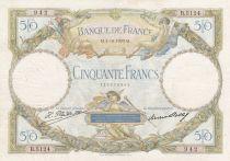 France 50 Francs Angels - Mercury - 03-10-1929 Série B.5124 - G to F