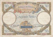France 50 Francs Angels - Mercury - 31-12-1931 Série Q.9593 - F to VF