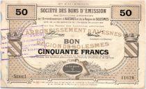 France 50 Francs Avesnes Et Solesmes Bertry