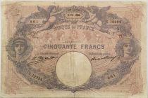 France 50 Francs Bleu et Rose - 05-11-1926 Série F.12224 - TB