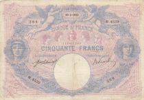 France 50 Francs Bleu et Rose - 10-02-1913 Série M.4539 - TB+