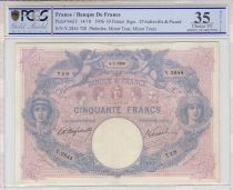 France 50 Francs Bleu et Rose - 10-05-1906 - PCGS VF35