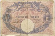 France 50 Francs Bleu et Rose - 17-08-1916 Série R.6986 - PTB