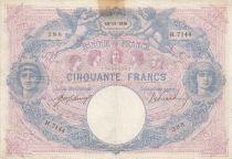 France 50 Francs Bleu et Rose - 18-11-1916 Série H.7144 - TB +