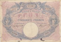 France 50 Francs Bleu et Rose - 1901