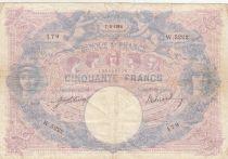 France 50 Francs Bleu et Rose - 1914 Série W.5222