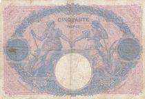 France 50 Francs Bleu et Rose - 22-04-1912 Série Q.4295 - p.TB