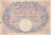 France 50 Francs Bleu et Rose - 26-04-1913 Série C.4603