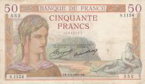 France 50 Francs Cérès - 04-04-1935 - Série S.1154 - p.TTB