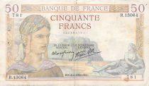France 50 Francs Cérès - 04-04-1940 - Série R.13064 - TB