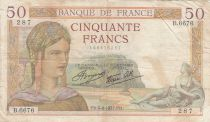 France 50 Francs Cérès - 05-08-1937 - Série B.6676