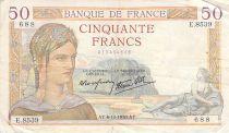 France 50 Francs Cérès - 06-10-1938 - Série E.8539 - TB