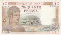 France 50 Francs Cérès - 06-10-1938- Série E.8633