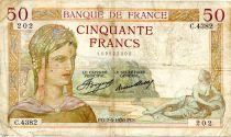 France 50 Francs Cérès - 07-05-1936 Série C.4382 - TB