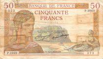 France 50 Francs Cérès - 12-09-1935 Série P.2869 - TB+