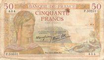 France 50 Francs Cérès - 13-04-1939 Série P.10231 - PTB