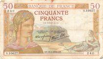 France 50 Francs Cérès - 13-07-1939 Série S.10627 - TB