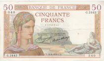 France 50 Francs Cérès - 14-08-1935 - Série G.2443 - TTB+