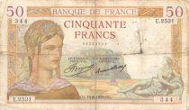 France 50 Francs Cérès - 14-08-1935 Série E.2531 - PTB