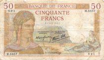 France 50 Francs Cérès - 15-09-1938 Série M.8457 - PTB