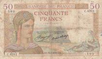 France 50 Francs Cérès - 16-04-1936 - Série C.4201