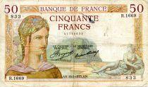 France 50 Francs Ceres - 16-05-1935 Serial R.1669 - F+