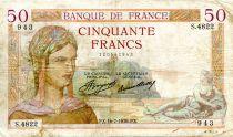 France 50 Francs Cérès - 16-07-1936 Série S.4822 - TB