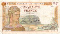France 50 Francs Cérès - 17-01-1935 Série S.237 - TB
