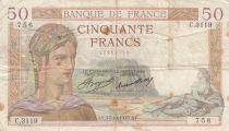 France 50 Francs Ceres - 17-10-1935 - Serial C.3119