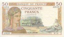 France 50 Francs Cérès - 1938