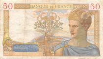 France 50 Francs Cérès - 20-10-1938 Série N.8808 - TB+