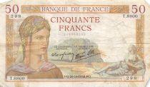 France 50 Francs Cérès - 20-10-1938 Série T.8800 - TB