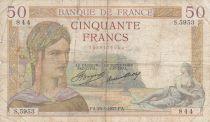 France 50 Francs Cérès - 25-03-1937- Série S.5953