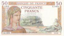 France 50 Francs Cérès - 25-04-1935 - Série A.1462 - SPL