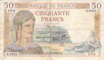 France 50 Francs Cérès - 27-05-1938 - Série B.8293 - TB