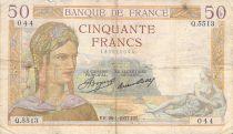 France 50 Francs Cérès - 28-01-1937 - Série Q.5513 - PTB