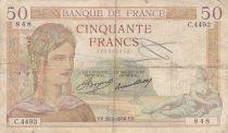 France 50 Francs Cérès - 28-05-1936 - Série C.4493