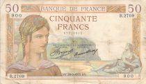 France 50 Francs Ceres - 29-08-1935 - Serial R.2709 - F