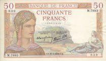France 50 Francs Cérès - 31/03/1938 - Série M.7993