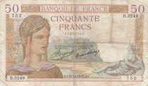 France 50 Francs Ceres - 31-10-1935 - Serial B.3249