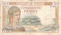 France 50 Francs Ceres - 31-10-1935 - Serial X.3354 - F