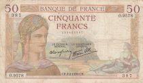 France 50 Francs Cérès -02-02-1939- Série O.9578