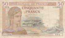 France 50 Francs Cérès -09-11-1939- Série L.11505