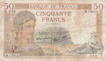 France 50 Francs Cérès -14-03-1940- Série M.13014