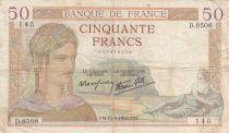 France 50 Francs Cérès -15-09-1938- Série D.8508