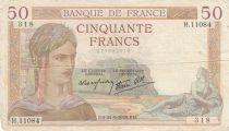 France 50 Francs Cérès -21-09-1939- Série H.11084