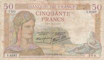 France 50 Francs Cérès -27-05-1937- Série V.8287