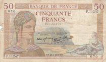 France 50 Francs Cérès -28-09-1939- Série F.11247