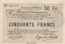 France 50 Francs Douai City - 1916