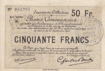France 50 Francs Douai City - 1916
